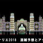 神戸ルミナリエ2018、混雑予想と電車の最寄り駅!点灯・消灯時間は?