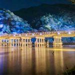 嵐山(京都)イルミネーション2018、期間と点灯時間!クリスマスの混雑予想